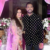 Krunal Pandya And Pankhuri Sharma Wedding Reception