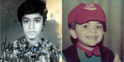 Childhood pictures of Indian cricketers