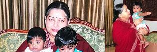 Photos of Jayalalithaa with the twins go viral