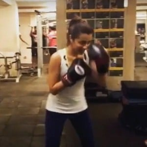 Trisha is a boxer now!