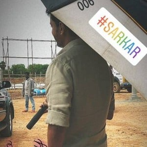 Latest picture from Sarkar shooting spot - goes instantly viral