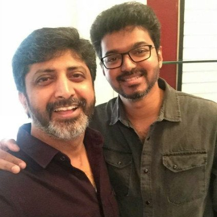 Vijay and Mohan Raja meet for a discussion